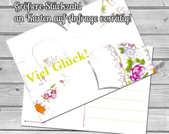 Good luck, postcard, shards, greeting card, greetings, card, driver's license, ABI, examination, exam