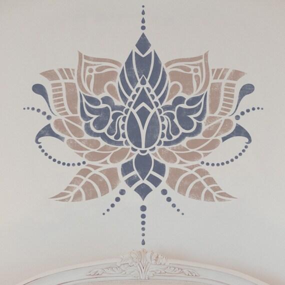 Schablone Wandmalerei indische blume schablone indische schablone möbel