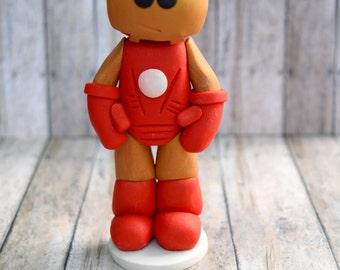 Ironman ornament, Ironman cake topper for son, ornament for boy, ornament for son, Ironman ornament, Ironman caketopper
