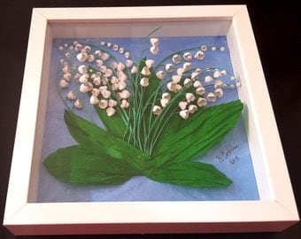 Picture quilling-lilies of the Valley (3D frame included)