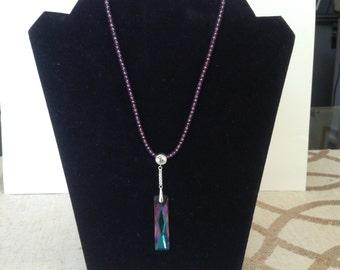 Silver Silk Baguette necklace