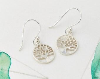 Tree of Life Jewelry, Jewelry Sets, Dangle Earrings, Long Earrings, Dangly Earrings, Drop Earrings, Boho Earrings, Silver Earrings JE170