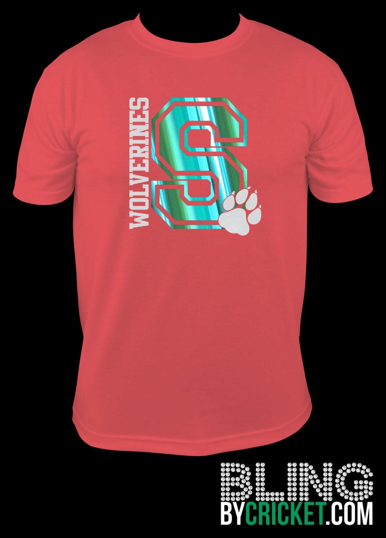 Sale spring school spirit shirts glitter foil or solid for High school shirts designs