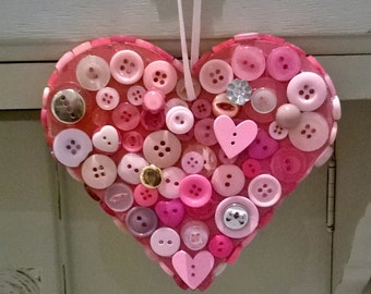 Wooden button decorations