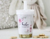 Flower Girl gift Personalized tumbler or sippy cup