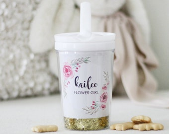Flower Girl gift Personalized sippy cup