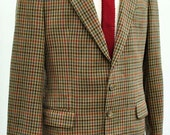 Men's Austin Reed Brown Houndstooth Tweed Check Blazer 40R