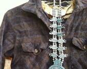 XS 1950s wool plaid shirt / dark brown black / flannel button down front / collar