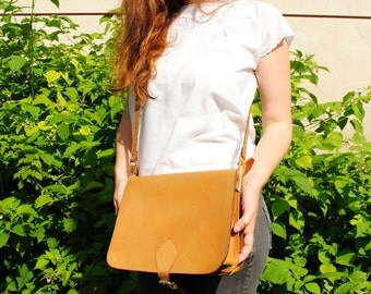 Leather bag, womens leather bag, leather crossbody bag, simple leather bag, brown leather bag, vintage crossbody bag, handmade leather bag