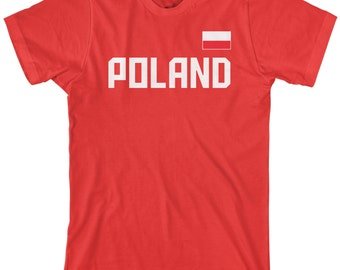 Poland National Team Men's T-shirt Polish Kingdom Soccer Warsaw Republic Football Flag - TA_00247