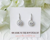E294S Personalized Bridesmaids Gift, Cubic Zirconia Earrings, Bridesmaid Earrings, Bridesmaids Gifts, Bridal Party Gift, Wedding Earrings