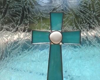 Cross Stained Glass Medium