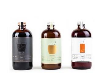 Get all 3 !!! Tonic + Cola + Ginger Ale Maison. Alternatives aux boissons gazeuses. Naturel !