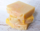 Island Sunrise - Passionfruit & Guava Scented Cold Process Soap with sunflower oil