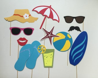 Beach Photo Booth Prop Beach Wedding Photo Booth Props Set of 12
