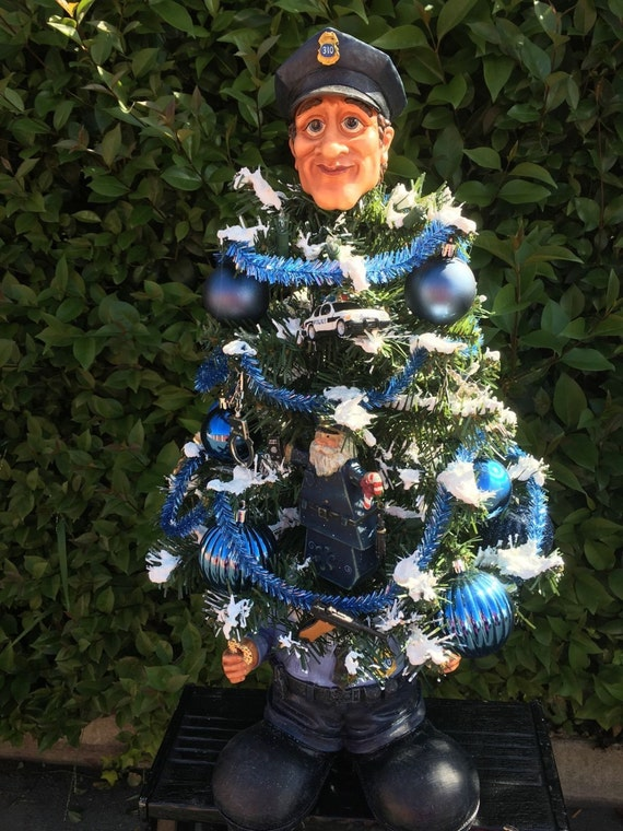 Police Officer Themed Christmas Tree Police By
