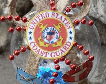 US Coast Guard Christmas Ornament -  United States Coast Guard Logo - Military