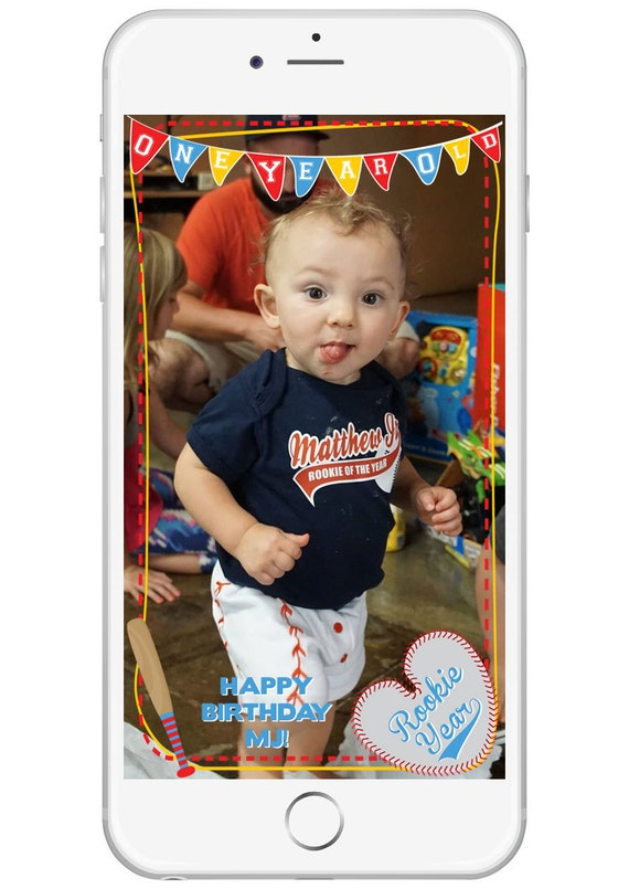 Personalized Baseball SnapChat Geo Filter Birthday Party