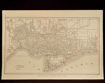 Toronto Map Toronto Street Map Antique Canada Ontario 1917
