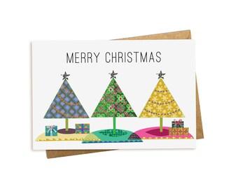 Christmas Card. Christmas Trees.