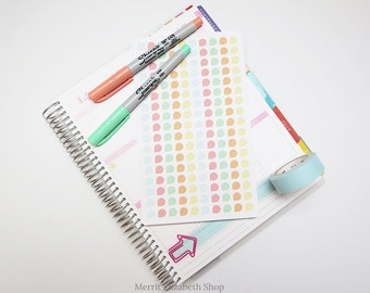 Mini Dew Drops Sticker Sheet : Sherbert Theme Planner Stickers
