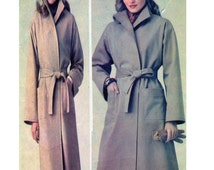 Butterick 303 Womens, Classic, Wrap, Trench Coat, Standing Collar, Patch Pockets, Belt, Size 20 (XXL, 2XL), Women Sewing Pattern