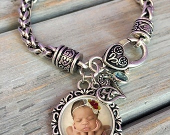 Photo Bracelet - custom photo Bracelet - photo Jewelry- photo Charm Bracelet- gift for Mom, grandma