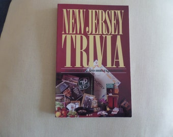 Vintage Trivia Book New Jersey Trivia Book By Menendez 1993 NJ History Book NJ Geography Book