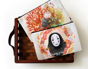 Spirited Away No Face Nausicaa Ohmu Zipper Bag