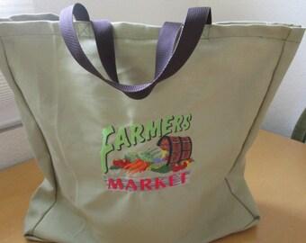 Farmer's Market  reusable shopping bag