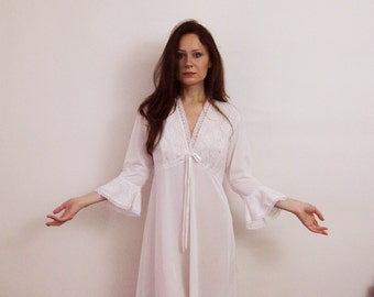60s Angel Nightgown Dress Small Medium