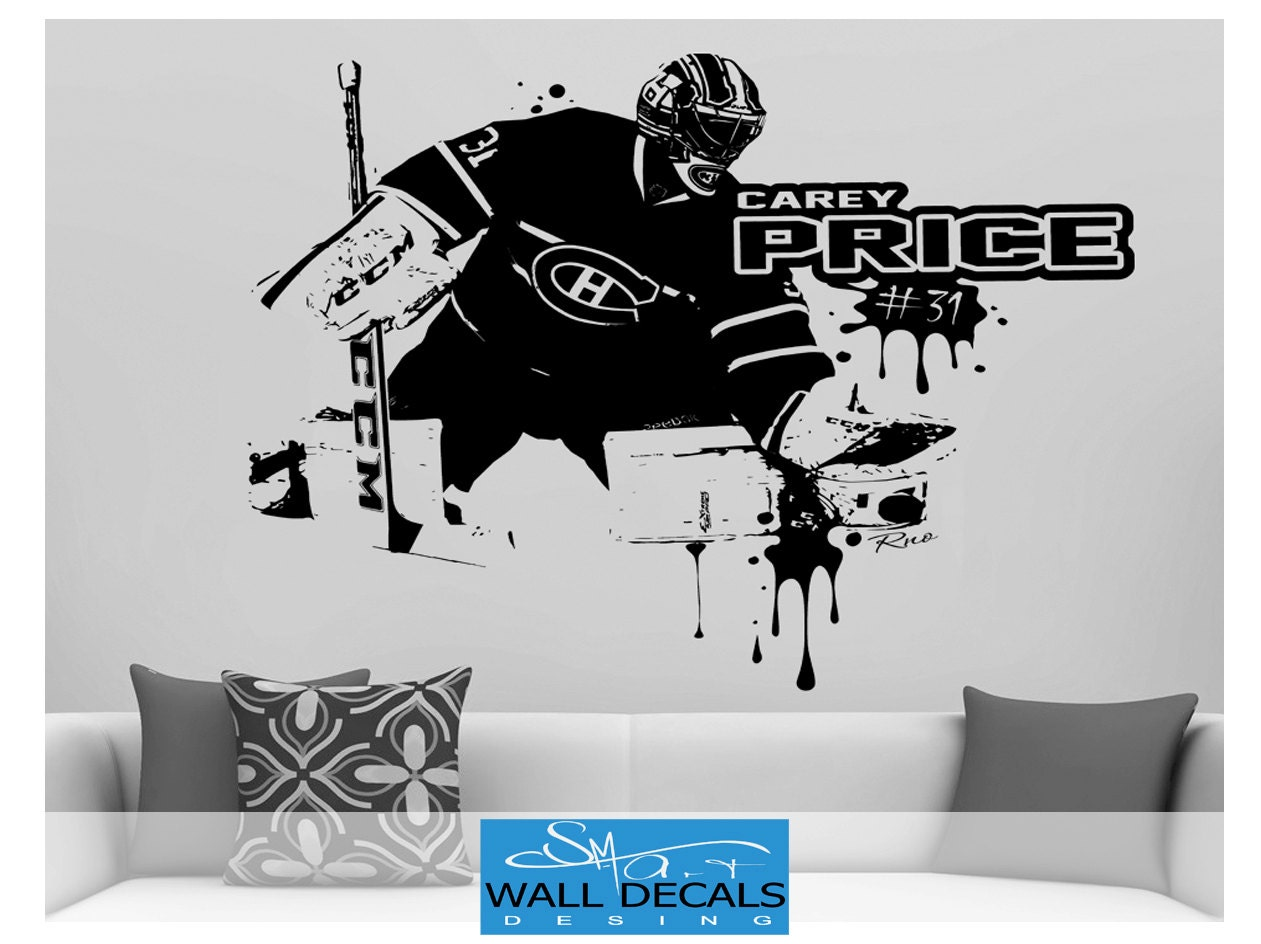 Carey price large vinyl wall decal sticker montreal canadiens fan carey price large vinyl wall decal sticker montreal canadiens fan goalie goaltender habs kids bedroom ice hockey wall decor wall art jersey amipublicfo Choice Image