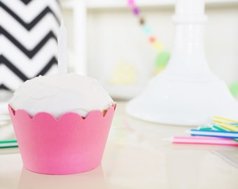 PINK Cupcake Wrappers - Set of 24