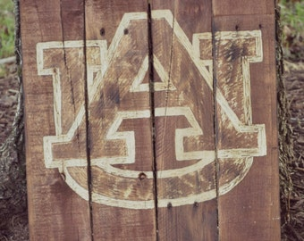 Auburn University Pallet Wood Art Sign Decor