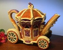 Department 56 storybook Cinderella teapot
