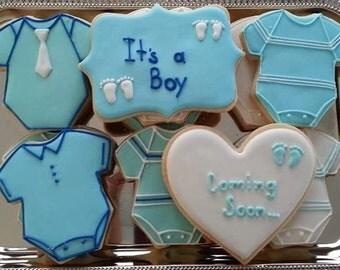 Baby Shower Cookies / It's A Boy / Baby Boy Cookies / 1 Dozen