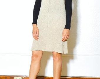 Designer Ralph Lauren vintage beige slip dress