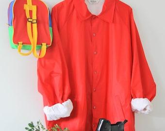 Vintage 60's-70's Red Rain Jacket
