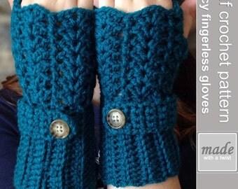 Feminine Lacey Fingerless Glove Crochet Pattern, Fingerless Gloves, Crochet Pattern, Crochet Gloves, Texting Glove Pattern, Wrist Warmers