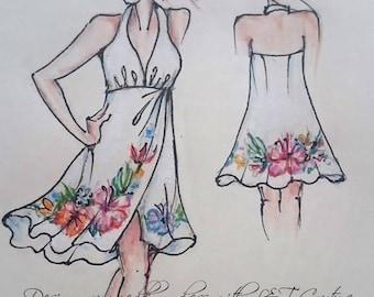 Beach wedding dress, custom beach wedding dress, lace beach wedding gown, custom dress, formal ,bridesmaids, mother of the bride dresses