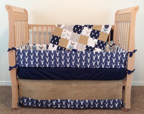 Deer Baby Bedding Custom Baby Bedding By SewSweetBabyDesigns