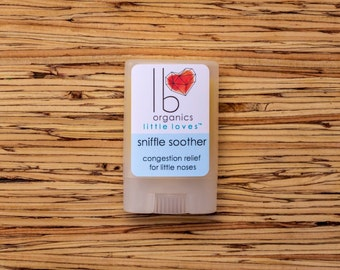 Little Loves // Sniffle Soother for Organic congestion relief