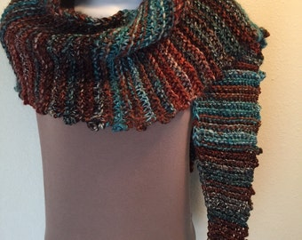 Knotty Scarf -- a loom knit pattern