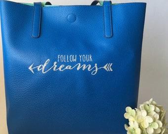 Personalized Handbag, Personalized Purse, Custom Handbag Purse, Custom Tote bag, Adventure Seeker, Planner Bag, Personalized Planner Tote