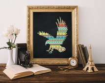 Eagle Print 5x7 8x10 Instant Download Tribal Nursery Printable Art Southwestern Decor Native Decor Eagle Printable Aztec Nursery Chalkboard