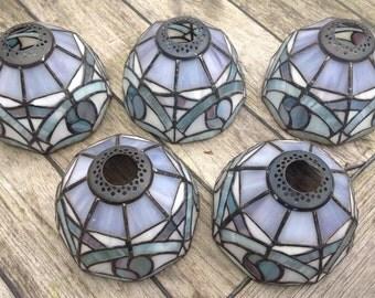Set of 5 art nouveau style shades.