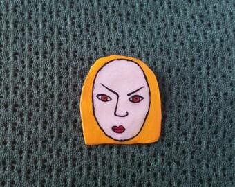 Angry Brooch - Blonde Hair