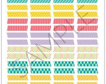 "PDF: Printable ""Washi Tape"" Planner Stickers"