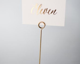 gold foil table numbers (single-sided)