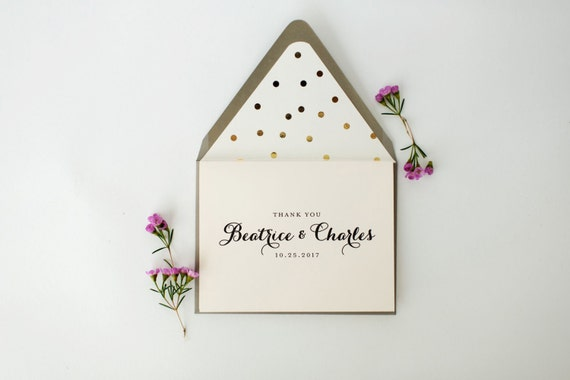 beatrice personalized thank you cards +  lined envelopes (sets of 10) // lola louie paperie